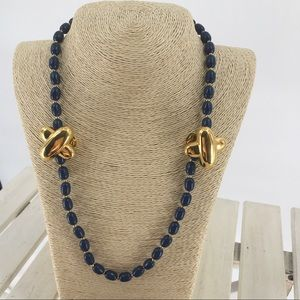 Carolee Necklace + Clip Earrings Signed